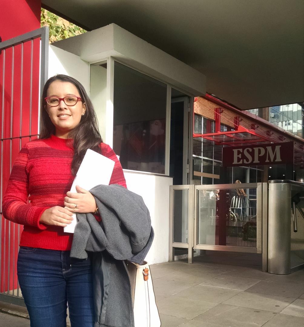 Acadêmica da Faculdade IENH participa da VII Mostra de Iniciação Científica da ESPM