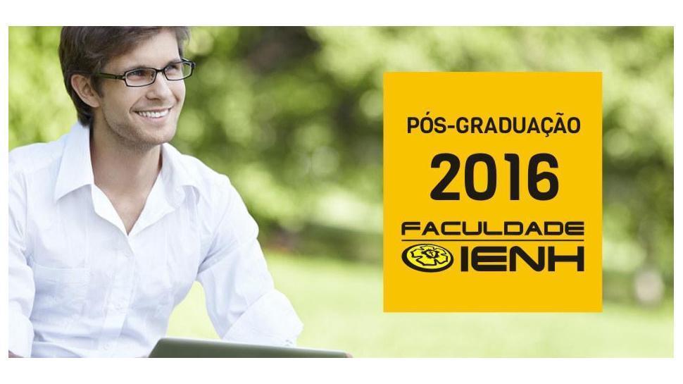 Cursos de Pós-graduação com inscrições abertas na Faculdade IENH