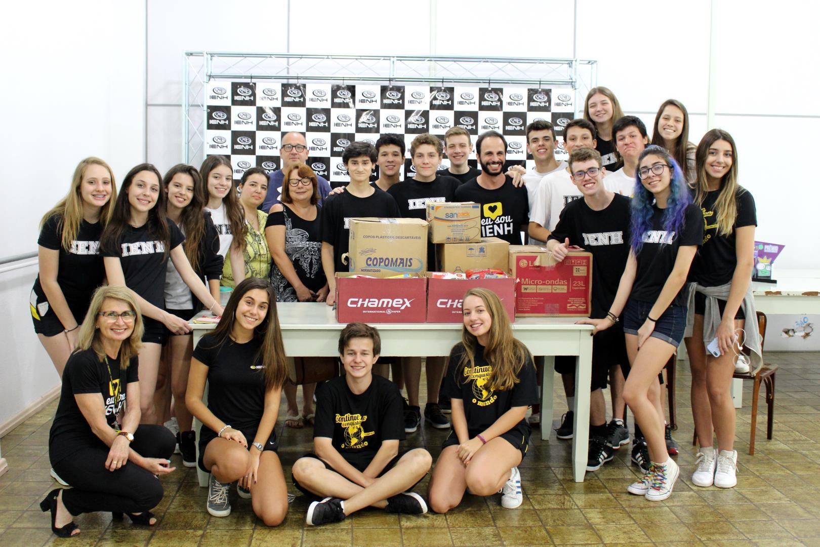 Donativos arrecadados pela IENH são entregues às entidades sociais