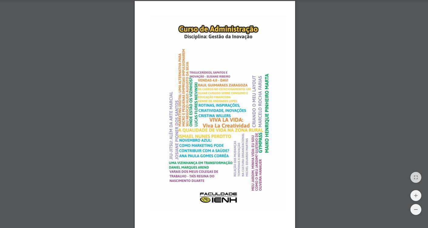 """E-book """"Viva la Vida"""" é publicado pelo Curso de Administração da Faculdade IENH"""