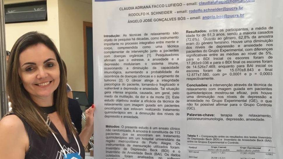 Professora da Faculdade IENH participa de Congresso sobre Psicologia da Saúde