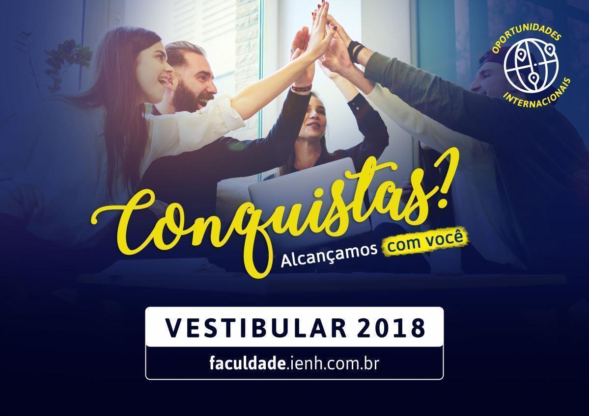 Última semana de inscrições para o Vestibular de Verão 2018 da Faculdade IENH
