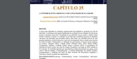 Artigo realizado no MBA em Gestão de Pessoas e Liderança Colaborativa é publicado em livro
