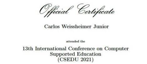 Professor da Faculdade IENH apresenta artigo em evento internacional